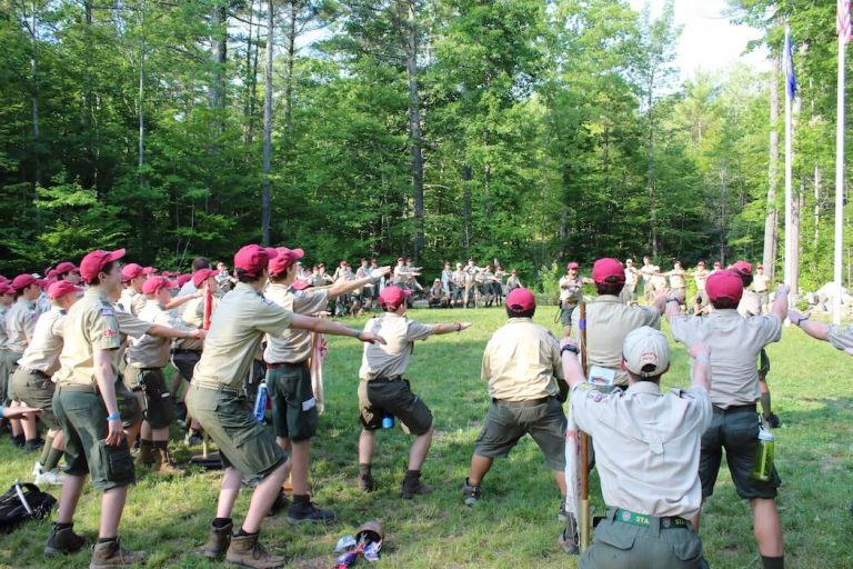 NYLT youth at Griswold Scout Reservation