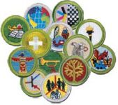 merit badges assortment